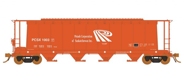 Rapido Trains 127018-1 3800 Cu. Ft. Covered Hopper PCSX Potash Corp Of Saskatchewan