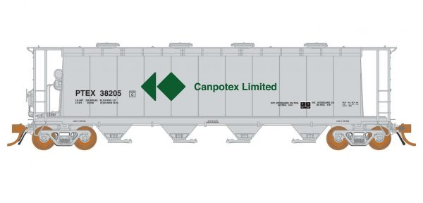 Rapido Trains   3800 cu. ft. Covered Hopper PETX Canpotex #38205