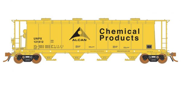 Rapido Trains 127021-4   3800 cu. ft. Covered Hopper UNPX Alcan