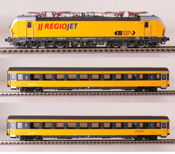 "LS Models 18000S  3 piece set: ""REIOJET"" Electric locomotive Vectron and 2 passenger cars (DCC/Sound)"