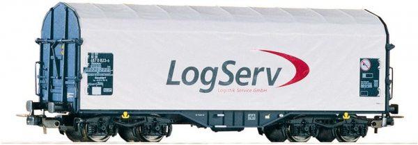 """Piko 54393  Sliding Tarp Wagon """"LogServ"""""""