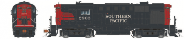 Rapido Trains 31042   Southern Pacific (Bloody Nose) Diesel Locomotive Alco RS-11 (DC Silent)