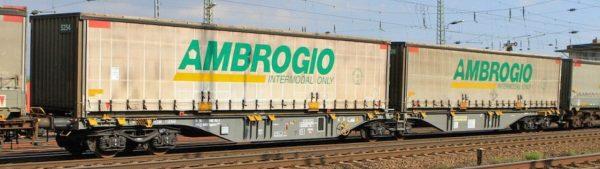 "B-Models 59300  Container Cars Sggmrss 90 ""AMBROGGIO"""