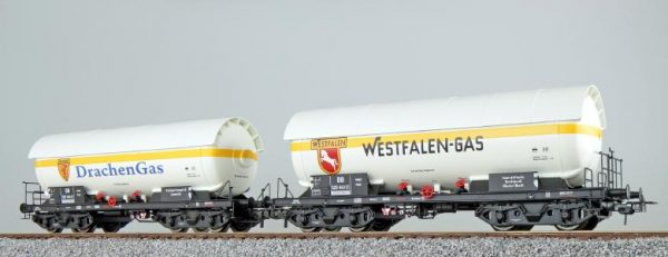 ESU 36530  LPG tank car set, DRACHEN + WESTFALEN, DB