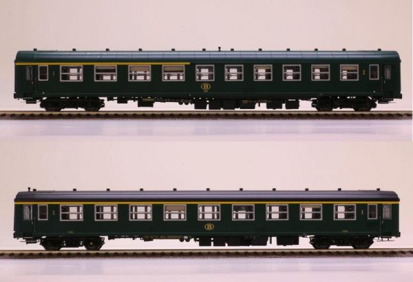 LS Models 42159  2 piece set:  1st & 1st/2nd class passenger coaches, SNCB