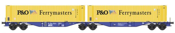 """B-Models 55100  Container Cars Sggmrss 90 """"P&O FERRYMASTERS"""""""