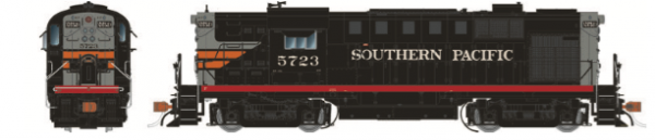Rapido Trains 31038   Southern Pacific (Black Widow) Diesel Locomotive Alco RS-11 (DC Silent)