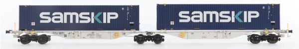 """B-Models 59200  Double container carrier wagon, Sggmrss 90', """"SAMSKIP"""""""