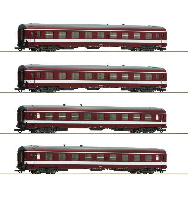 """Roco 74109  4 piece set 1: Coaches """"Le Capitole"""", SNCF"""