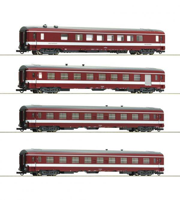 """Roco 74110  4 piece set 2: Coaches """"Le Capitole"""", SNCF"""