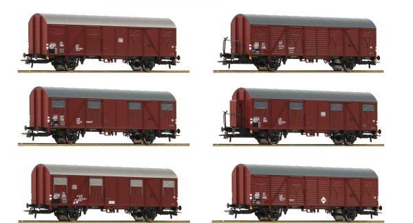Roco 75952  12 piece set: Boxcars, DB
