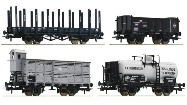 Roco 76077  4 piece set: Goods wagons SS