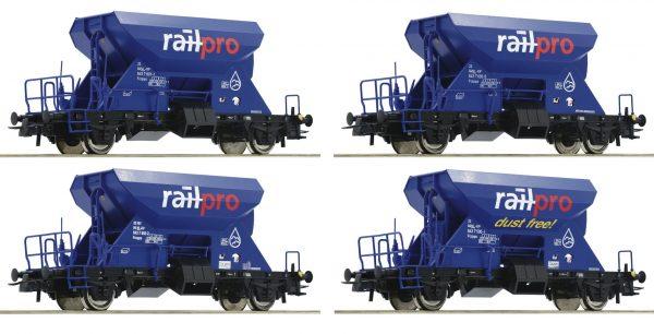 Roco 76137  4 piece set:   Hopper Wagons, RAILPRO