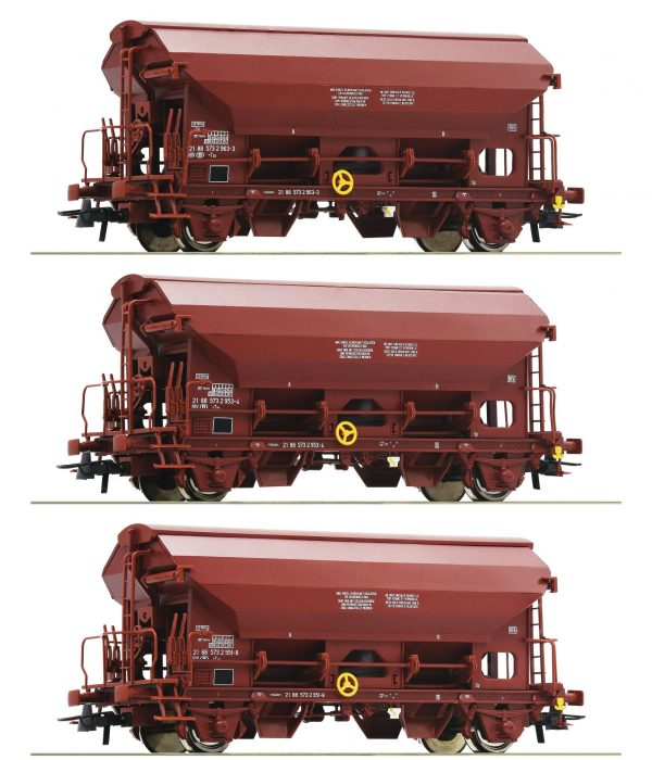 Roco 76176  3 piece set: Swing roof wagons, SNCB