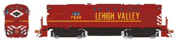 Rapido Trains 31051   Lehigh Valley Cornell Red Diesel Locomotive Alco RS-11 (DC Silent)