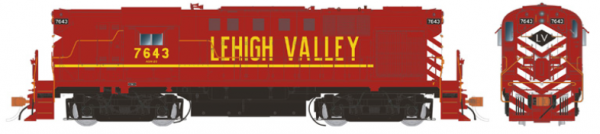 Rapido Trains 31052   Lehigh Valley Cornell Red Diesel Locomotive Alco RS-11 (DC Silent)