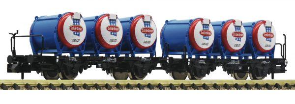 """Fleischmann 823305  2 piece set milk wagons """"Schärdinger"""", ÖBB"""