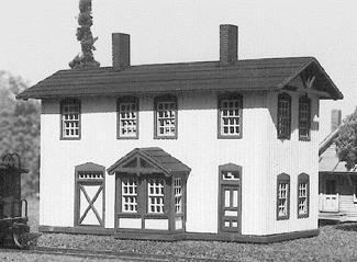 American Model Builders 612  Two Story Wood Depot