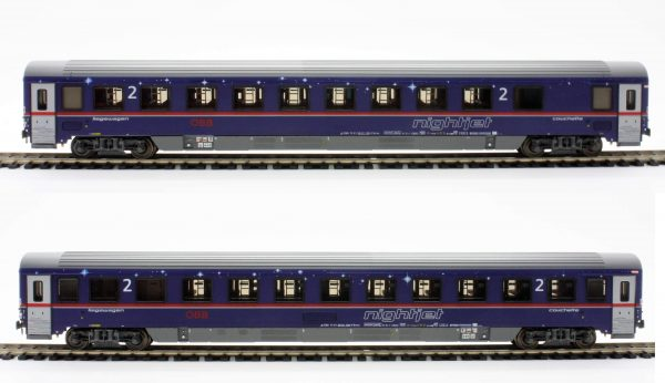 "ACME 55198  ÖBB ""NIGHTJET"" Set of two couchette cars EN 295/40295"