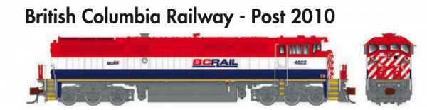 Rapido Trains GE Dash 8-40CM British Columbia Railway - Post 2010