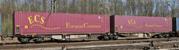 "B-Models 59100  Container Cars Sggmrss 90 ""ECS"""