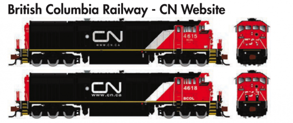 Rapido Trains GE Dash 8-40CM British Columbia Railway - CN Website