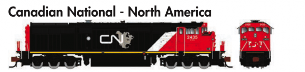 Rapido Trains  GE Dash 8-40CM Canadian National - North America