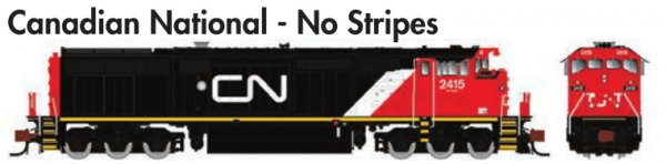 Rapido Trains  GE Dash 8-40CM Canadian National -  No Stripes