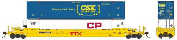 Rapido Trains 401014  53′ Husky-Stack Well Car DTTX TTX Co.