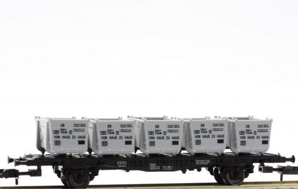 """Fleischmann 8231  Container Car, type Lbs 593 of the DB,  """"Von Haus Zu Haus"""""""