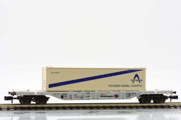 """Fleischmann 8246  Container carrier wagon type Sgss-y, """"KOMBIWAGGON"""""""