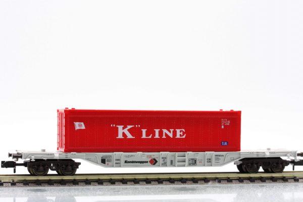 """Fleischmann 8247  Container carrier wagon type Sgss-y, """"KOMBIWAGGON"""""""