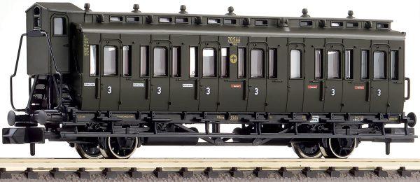 Fleischmann 807104  3rd class compartment coach type C pr 21, DRG