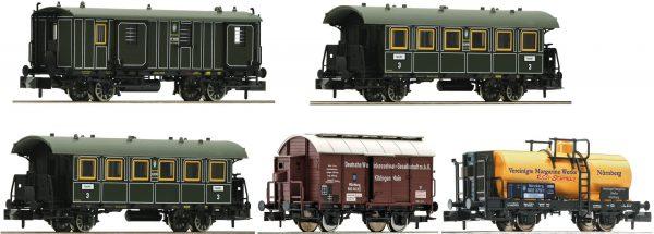 """Fleischmann 809003  5 piece set """"Goods / passenger transportation"""", K.Bay.Sts.B."""
