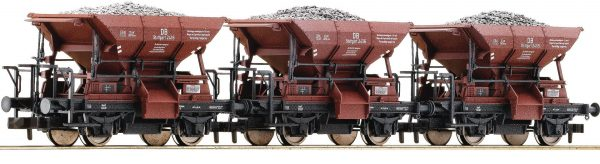 Fleischmann 822705  3 piece set ballast wagons type Talbot, DB