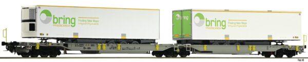 Fleischmann 825006  Articulated double pocket wagon T2000, AAE