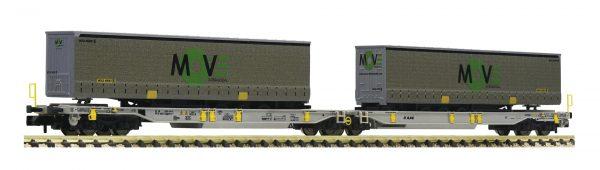 Fleischmann 825025  Articulated double pocket wagon T2000, AAE