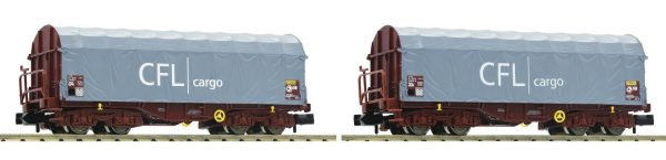 Fleischmann 837917  2-piece set sliding tarpaulin wagons type Shimms, CFL (Cargo)