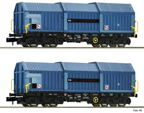 Fleischmann 837926  2 piece stock telescopic hood wagons, RAILLOGIX