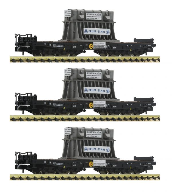 Fleischmann 845512  3-piece set heavy duty wagons type Samms, DB