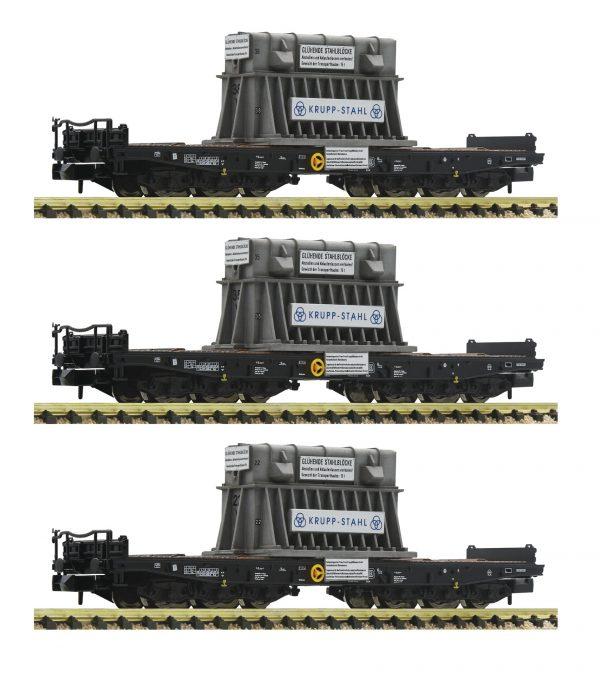 Fleischmann 845512  3-piece set heavy duty wagons type Samms, DB