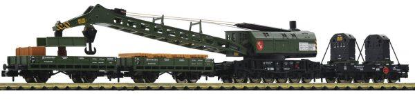 Fleischmann 859902  4 piece set crane train, DB