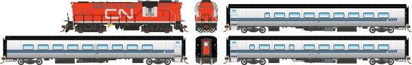 Rapido Trains 131504  VIA Rail Tempo Set VIA 2 (DCC w/Sound)