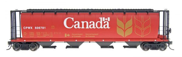 InterMountain Railway 45102-147 Red Canada - CPWX Cyl Covered Hopper