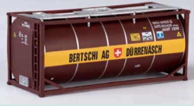 """B-Models LT204  20' Tank Container """"BERTSCHI AG"""" Decorative Only"""