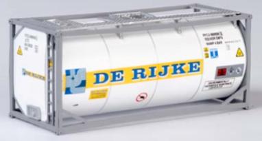 "B-Models LT215  20' Tank Container ""DE RIJKE"" Decorative Only"