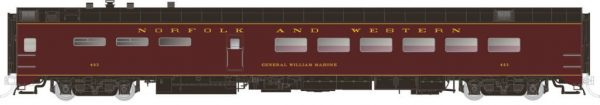 Rapido Trains 124043  Pullman-Standard Lightweight Dining Car Norfolk & Western
