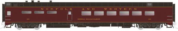 Rapido Trains 124044  Pullman-Standard Lightweight Dining Car Norfolk & Western