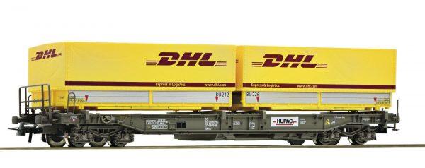 "Roco 67528  Standard pocket wagon ""DHL"", HUPAC"