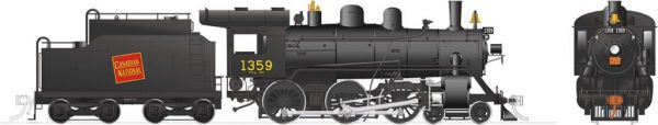 Rapido Trains 603502  Canadian National H-6-g Steam Locomotive